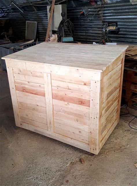 diy large pallet storage chest  box pallet furniture diy
