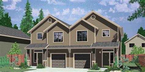 Duplex Home Plans & Designs For Narrow Lots Bruinier