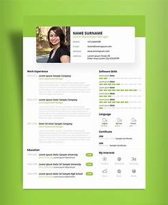 free beautiful resume cv design template psd ppt file With free attractive resume templates