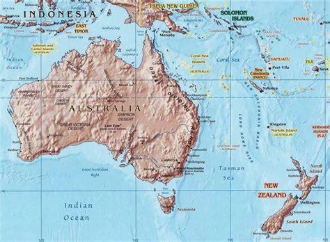 tropic  capricorn australia map