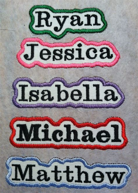 personalized embroidered iron   patch