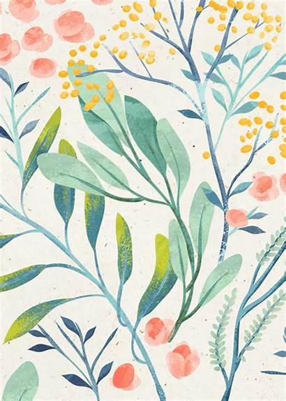 Pattern Illustration Floral Flowers Pretty Leaves Flower