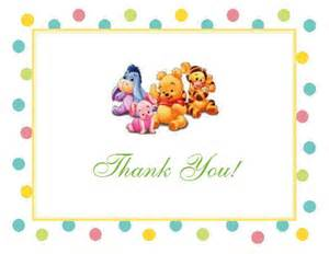 jungle baby shower favors winnie the baby pooh and friends baby shower thank you cards