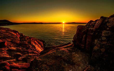 Wallpaper Backgrounds Desktop by Sunset At Acadia National Park Desktop Background 598304