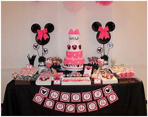 {Real Parties}:: Pink + Zebra Minnie Mouse Inspired 1st ...
