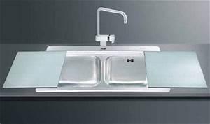 Evier Inox Brossé : evier inox et verre inox 2 bacs a encastrer smeg elite ~ Premium-room.com Idées de Décoration