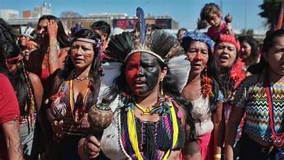 Indigenous Brazil March Bolsonaro Protest Territory Spirit