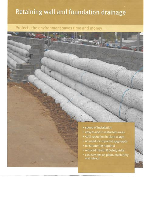how to build drainage for retaining wall polyagg retaining wall drainage