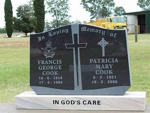 upright headstones queensland With cemetery lettering prices