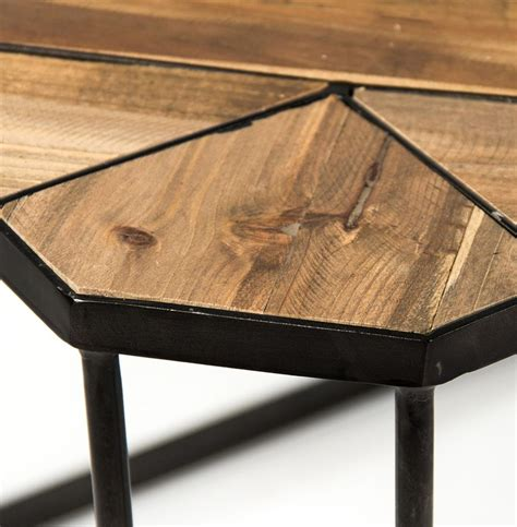 Lily's living reclaimed wood peking ming coffee table, small, 55 inch long, weathered white wash lily's living. Kieran Reclaimed Wood Parquet Industrial Iron Long Bench Coffee Table