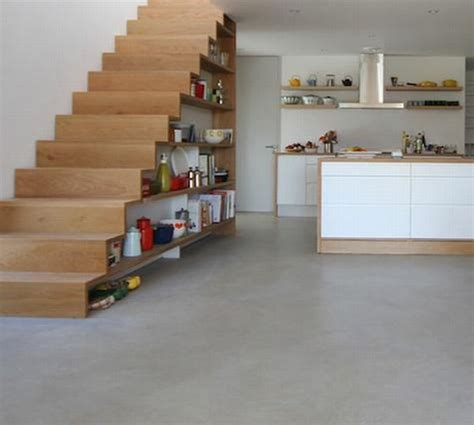 stairs kitchen storage clever stair storage from the basement 6569