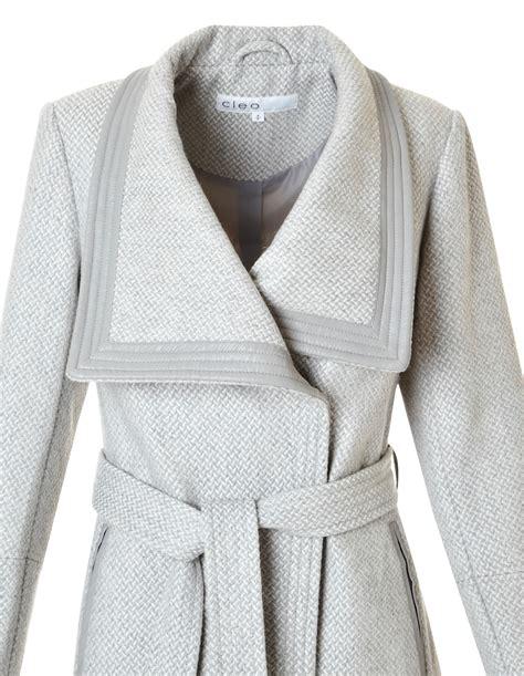 light grey wool light grey wool blend coat cleo