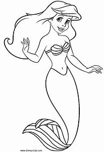 Little Mermaid Coloring Pages To Download And Print For Free