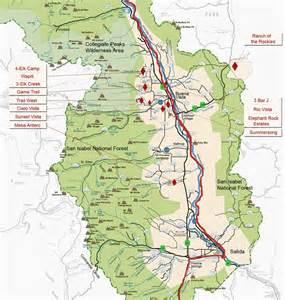 Chaffee County Colorado Map