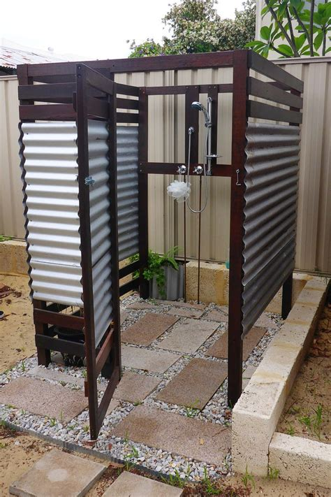 Outdoor Shower, Corrugated Metal  Google Search Outdoor