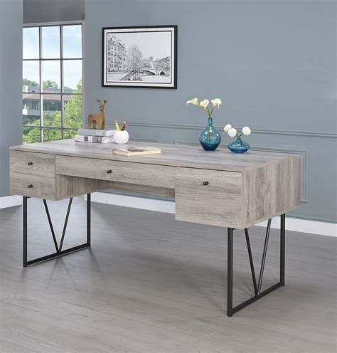 Analiese Gray Driftwood Writing Desk From Coaster. Ikea White Round Table. Corner Desk With Hutch White. Elastic Table Cover. Refrigerator Drawers. Mission Computer Desk. Corner Desk Organizer. Rustic Farm Tables. Desk Chir