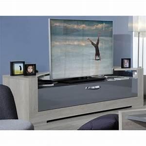 Meuble Tv 180 : alcova meuble tv 180 cm gris ch ne achat vente meuble tv alcova meuble tv 180 cm panneaux de ~ Teatrodelosmanantiales.com Idées de Décoration