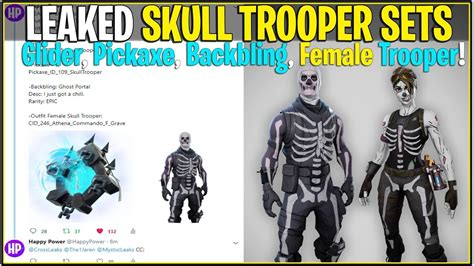 fortnite skull trooper official sets woman skin