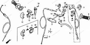 Honda Motorcycle 1985 Oem Parts Diagram For Handle Switch