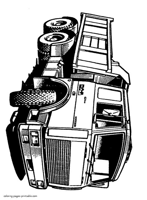 black  white dump truck pictures coloring pages printablecom