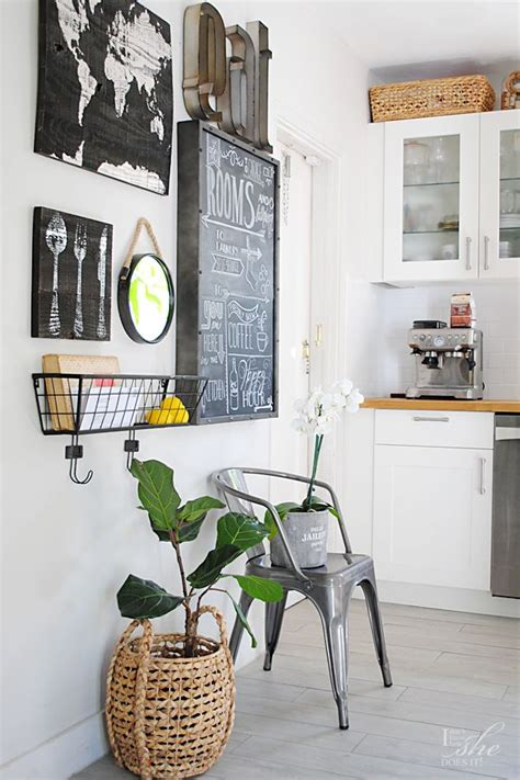 Even the tiniest of dining rooms can the best tip for using draperies to decorate a wall is to be generous with them — this means adding an extra set to the rod to fill out the wall. 5 Gallery Wall Ideas for Every Corner of Your Home   Kitchen gallery wall, Kitchen wall decor ...