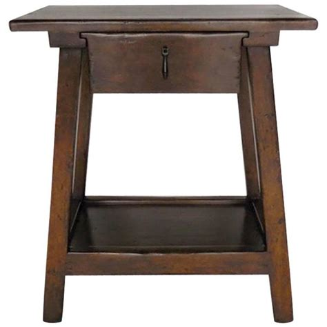 side table with drawer and shelf dos gallos custom wood nightstand side table with drawer