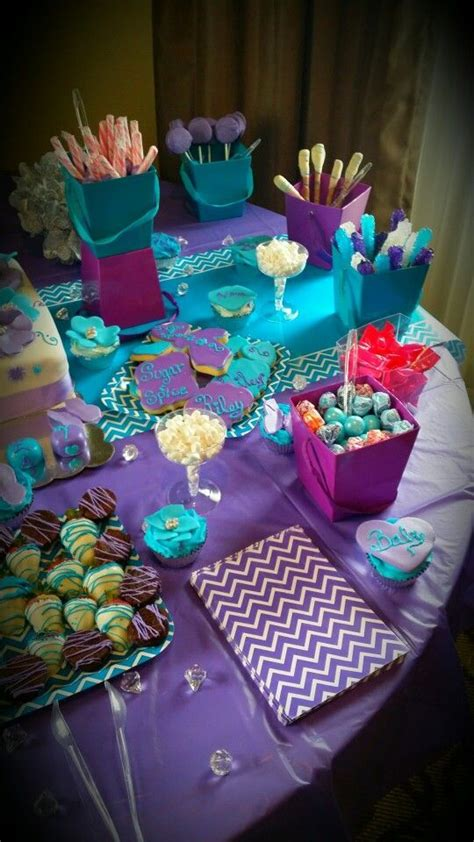 Purple And Teal Baby Shower Decorations by 25 Best Purple And Turquoise Images On