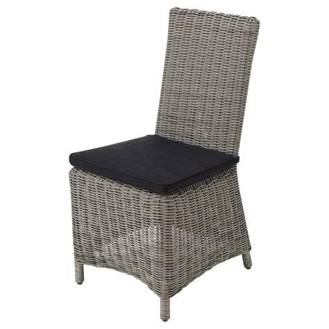 chaise tressée chaise de jardin coussin en résine tressée et tissu