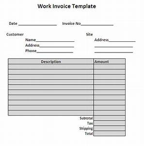 search results for free online invoice template With work invoices free