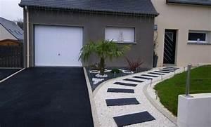 Aménagement Cour Extérieur : am nagement ext rieur devant maison jardin paysager ~ Melissatoandfro.com Idées de Décoration