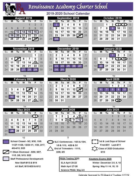 printable school calendar renaissance academy charter school