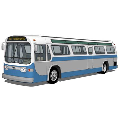 gmc fishbowl transit bus 3d model formfonts 3d models