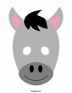 printable donkey mask With donkey face mask template