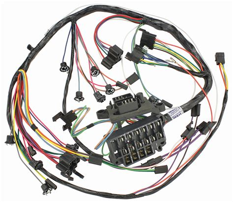 Dash Wiring Harnes by M H Chevelle Dash Instrument Panel Harness All W Warning
