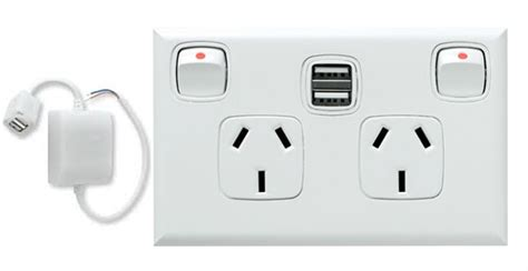 power point with switch white 10 hpm