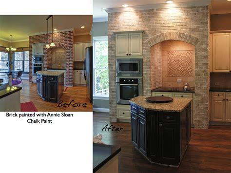 brick in kitchen painting kitchen cabinets and brick lighten up a kitchen