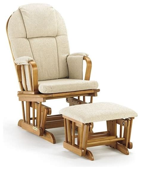 Shermag Rocking Chair With Ottoman by Shermag 37913cb Glider Rocker Ottoman Pecan