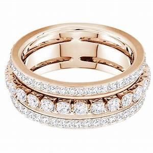 Bague Or Rose Swarovski : bague swarovski bijoux parent 5441200 acier dor rose cristaux swarovski femme sur bijourama ~ Melissatoandfro.com Idées de Décoration