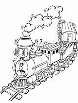 Polar Coloring Express Pages Train sketch template
