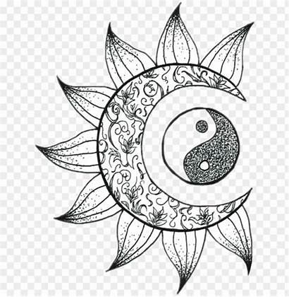 Moon Sol Luna Flower Coloring Artsy Pages