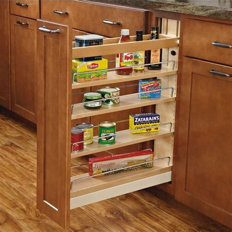 kitchen rev ideas rev a shelf wood pull out organizers with soft close slides for kitchen base cabinet