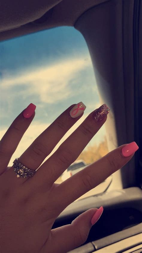 breast cancer nails ideas  pinterest cancer