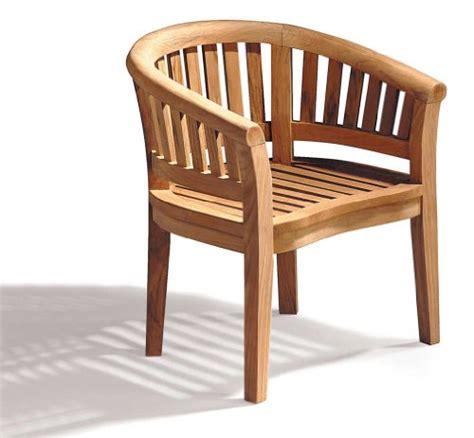 teak curved banana garden chair outdoor armchair jati