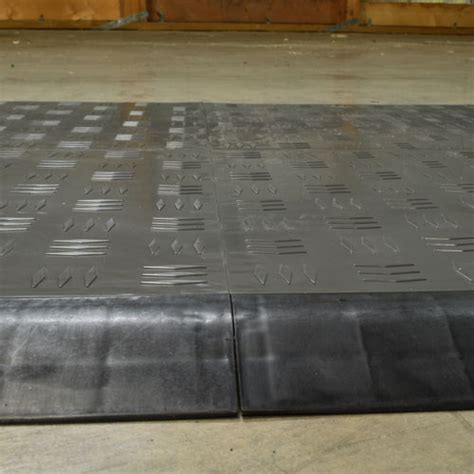 Click Tile Border Ramp   Court and Garage Floor Tile Edge