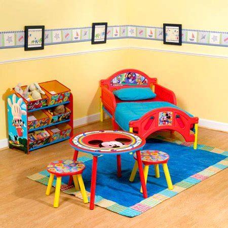 2945 toddler room furniture mickey mouse clubhouse room in a box walmart