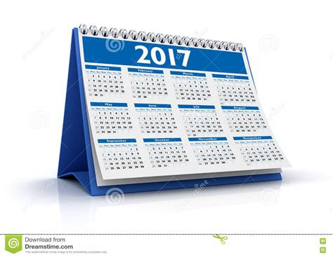 calendrier de bureau photo calendrier de bureau 2017 illustration stock image 77319923