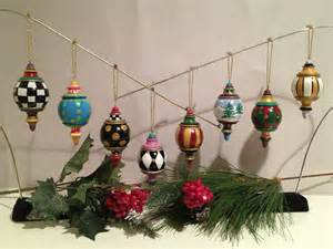 hand made hand painted solid wood christmas finial ornaments this price is for one 1 ornament