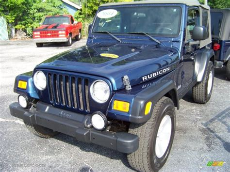 patriot jeep blue 2004 patriot blue pearl jeep wrangler rubicon 4x4