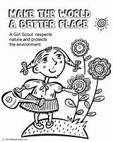 Better Place Coloring Scouts Law Scout Print Pages Makingfriends Sheets Making Current Brownie Activities Sheet sketch template