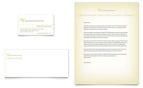 attorney legal services business card letterhead